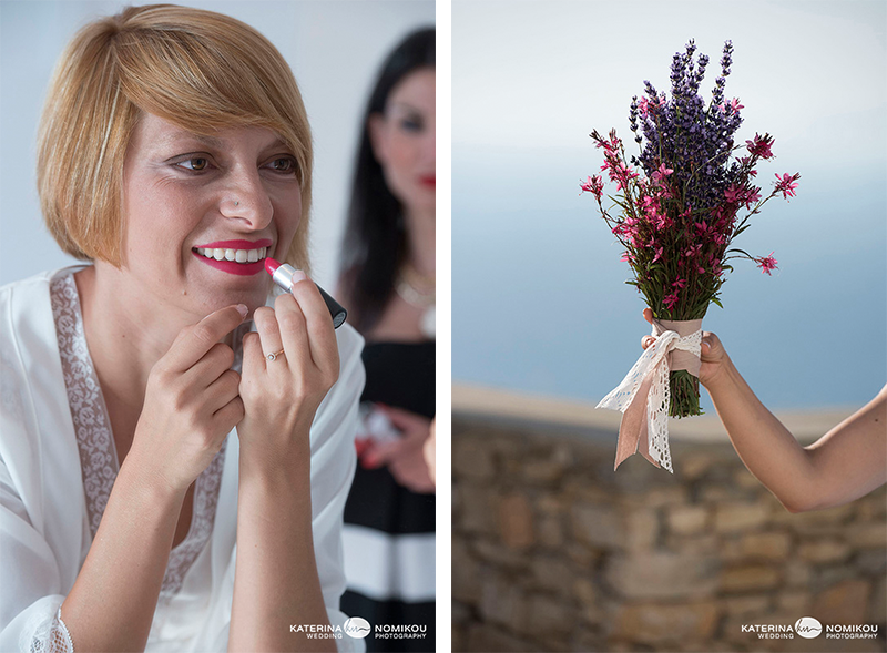 folegandros nyfi anthodesmi bride bouquet